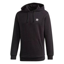 adidas BACK + FRONT TREFOIL HOODIE アディダス バック + フロント プリント トレフォイル パーカー BLACK ge0795