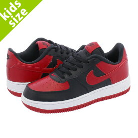 【キッズサイズ】【16cm-22cm】 NIKE AIR FORCE 1 PS ナイキ エアフォース 1 PS BLACK/GYM RED/WHITE 596729-016