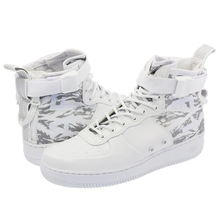 NIKE SPECIAL FIELD AIR FORCE 1 MID PRM 【SF AF-1】 ナイキ スペシャル フィールド エアフォース 1 ミッド プレミアム WHITE/WHITE/WHITE