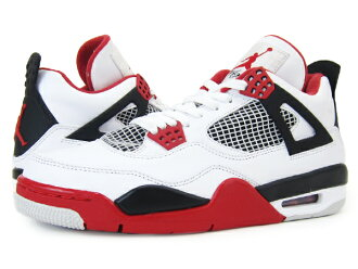 new concept d3caf 28035 NIKE AIR JORDAN 4 Nike エアージョーダン 4 retro WHITE VARSITY RED BLACK