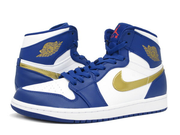 NIKE AIR JORDAN 1 RETRO HIGH ナイキ エア ジョーダン 1 レトロ ハイ DEEP ROYAL BLUE/METALLIC GOLD/WHITE/INFRARED 23