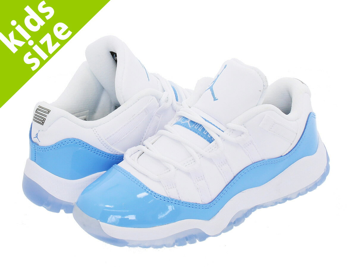 【キッズ サイズ】【16cm-22cm】 NIKE AIR JORDAN 11 RETRO LOW BP 【COLUMBIA BLUE】 【UNC】 ナイキ エア ジョーダン 11 レトロ ロー BP WHITE/UNIVERSITY BLUE