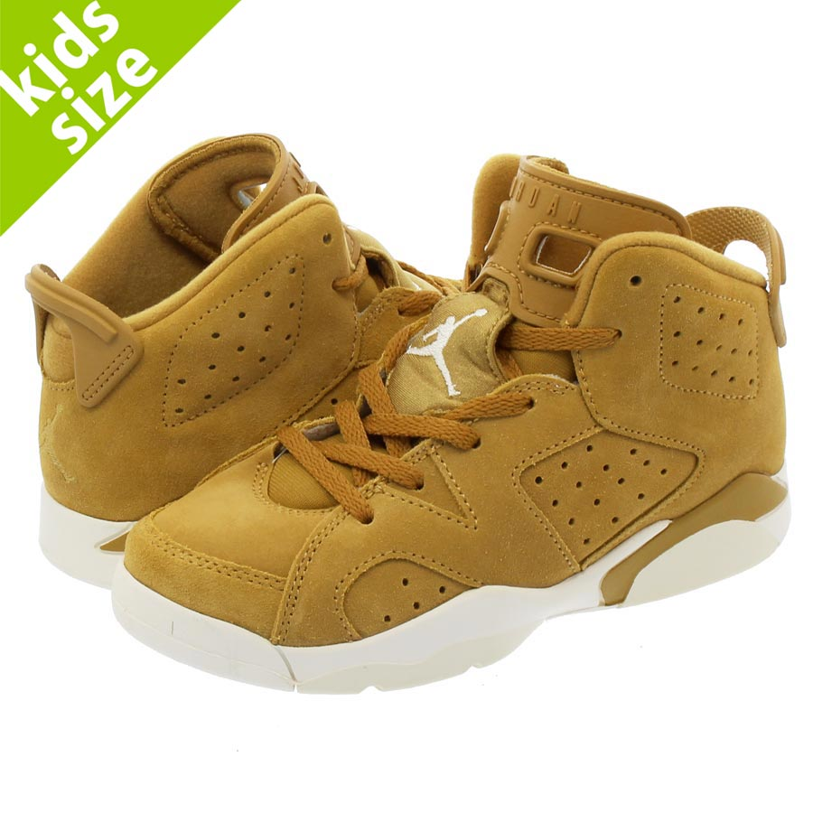 【キッズ サイズ】【16cm-22cm】 NIKE AIR JORDAN 6 RETRO PS ナイキ エア ジョーダン 6 レトロ PS GOLDEN HARVEST/GOLDEN HARVEST/SAIL