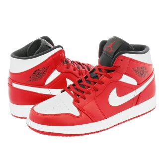 NIKE AIR JORDAN 1 MID Nike Air Jordan 1 mid GYM RED/WHITE 554,724-605