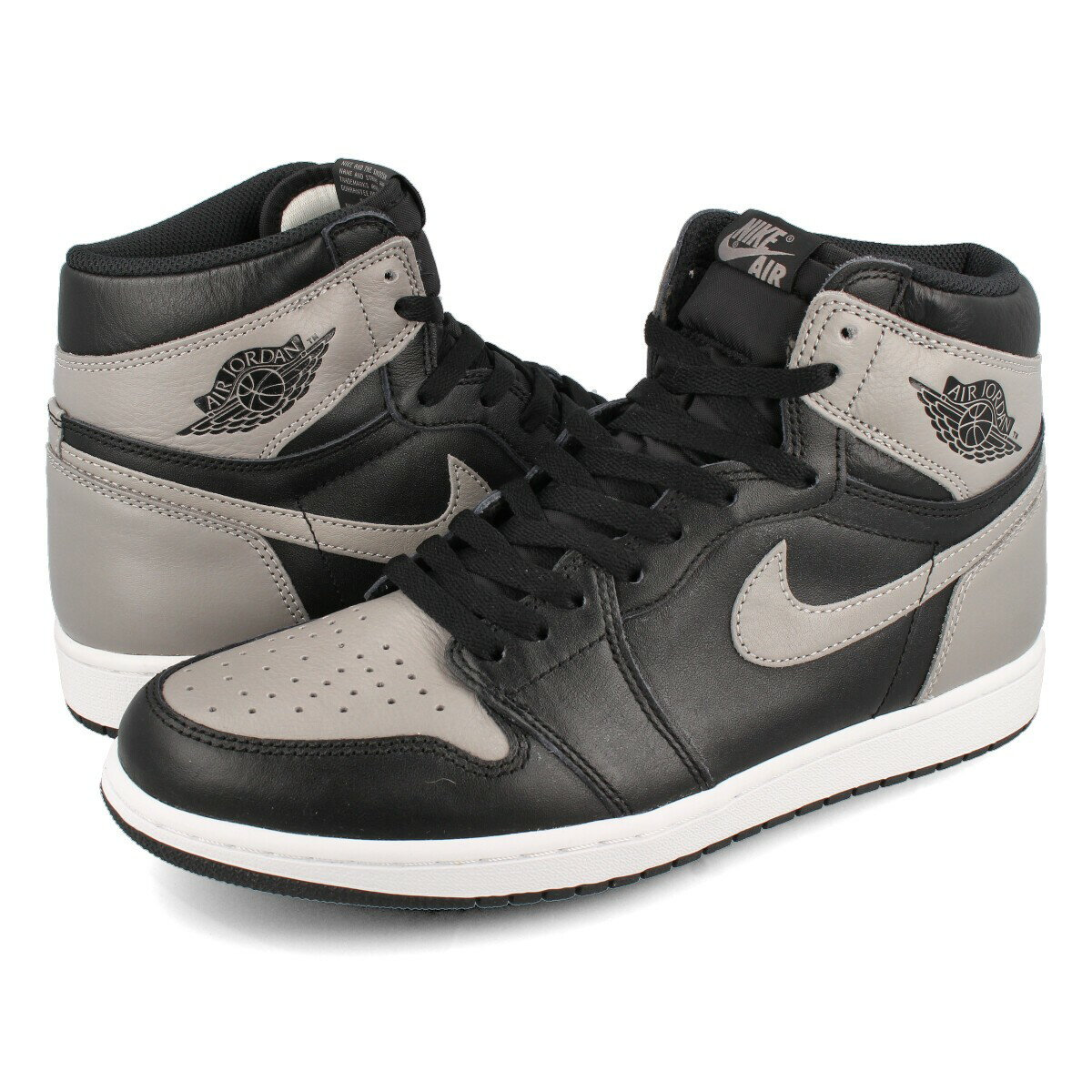 NIKE AIR JORDAN 1 RETRO HIGH OG 【SHADOW】 ナイキ エア ジョーダン 1 レトロ ハイ OG BLACK/MEDIUM GREY/WHITE 555088-013