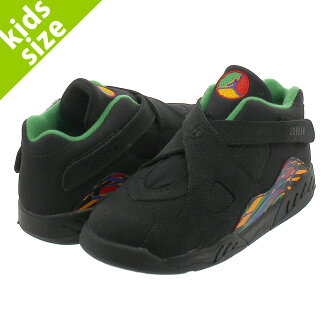 cba706c220a7d3 NIKE AIR JORDAN 8 RETRO BT Nike Air Jordan 8 nostalgic BT BLACK LIGHT  CONCORD ALOE VERDE 305