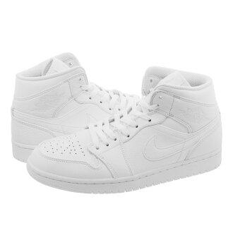NIKE AIR JORDAN 1 MID Nike Air Jordan 1 mid WHITE/PURE PLATINUM/WHITE 554,724-109