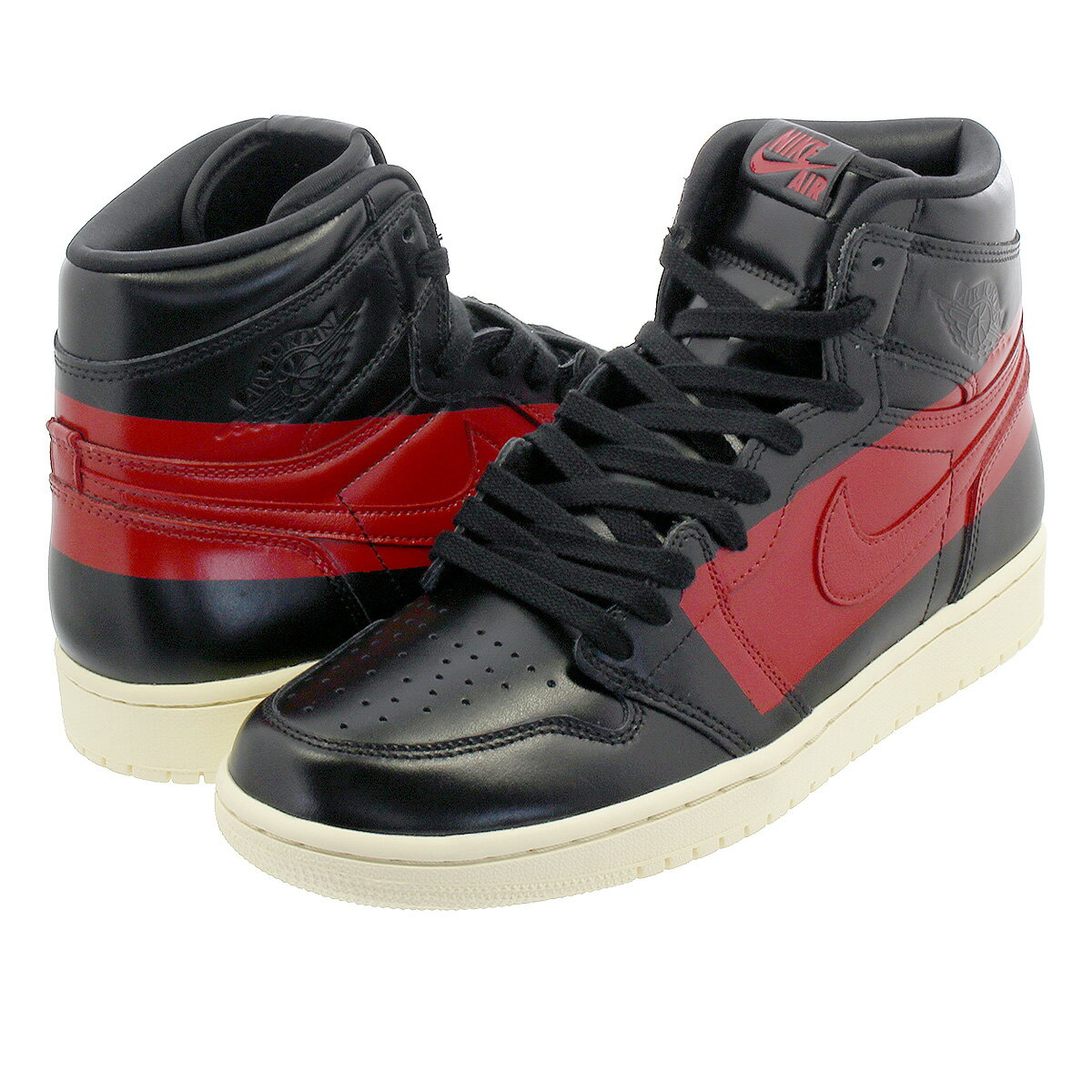 nike air jordan black and red