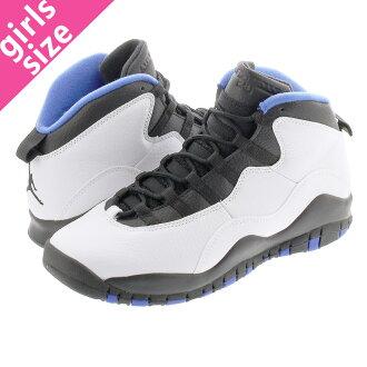 best website 3e1d7 35764 NIKE AIR JORDAN 10 RETRO GS Nike Air Jordan 10 nostalgic GS  WHITE/BLACK/ROYAL BLUE 310,806-108