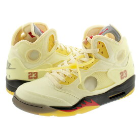 NIKE AIR JORDAN 5 RETRO SP 【OFF-WHITE】 ナイキ エア ジョーダン 5 レトロ SP SAIL/FIRE RED/MUSLIN/BLACK dh8565-100