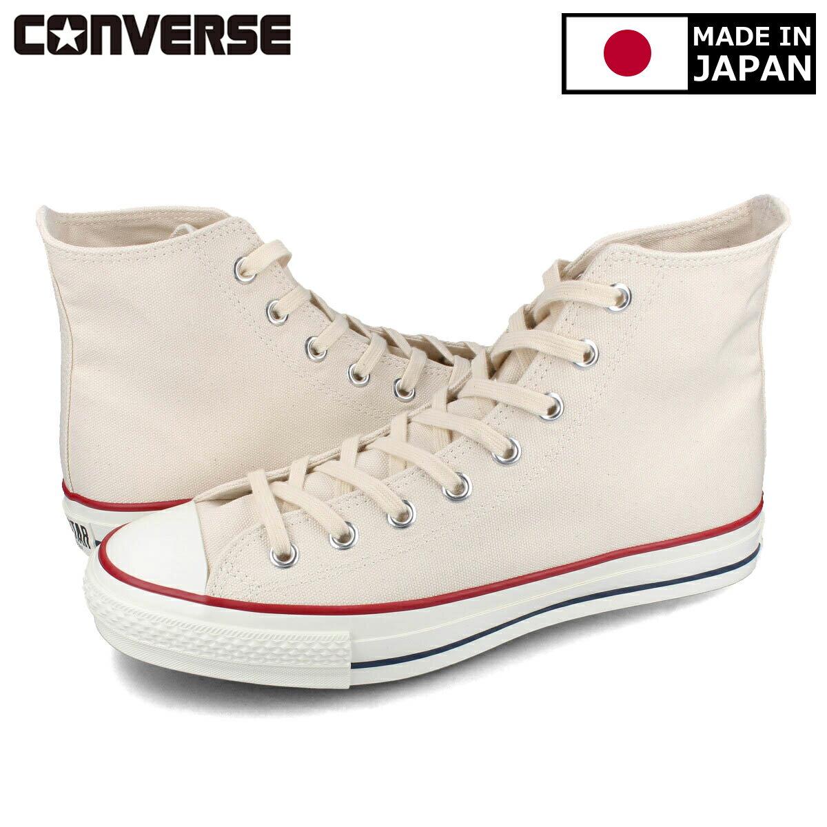 CONVERSE CANVAS ALL STAR J HI 【MADE IN JAPAN】【日本製】 コンバース オールスター J HI NATURAL WHITE