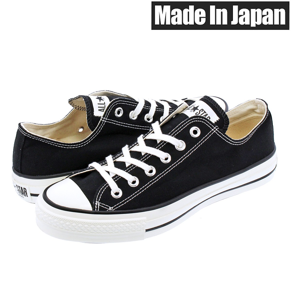CONVERSE CANVAS ALL STAR J OX 【MADE IN JAPAN】【日本製】 コンバース オールスター J OX BLACK