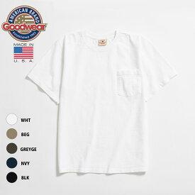 【毎日がお得!値下げプライス】 GOODWEAR REGULER FIT 7.2OZ HEAVY WEIGHT POCKET TEE 【MADE IN U.S.A.】 グッドウェア レギュラーフィット 7オンス ヘビーウェイト ポケット Tシャツ WHITE BEIGE GREYGE NAVY BLACK (5色展開) GDW-001-191011
