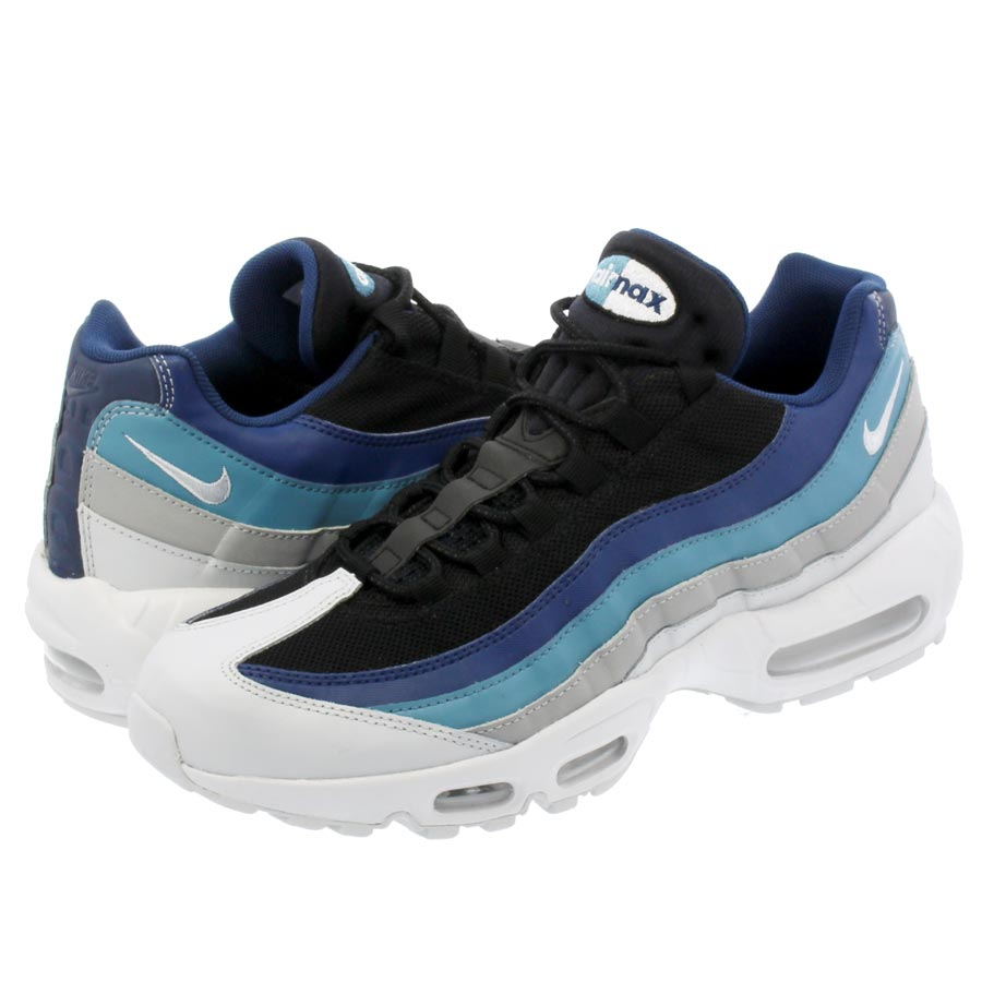 NIKE AIR MAX 95 ESSENTIAL ナイキ エア マックス 95 エッセンシャル PURE PURE PLATINUM/BLUE/BLACK 749766-026
