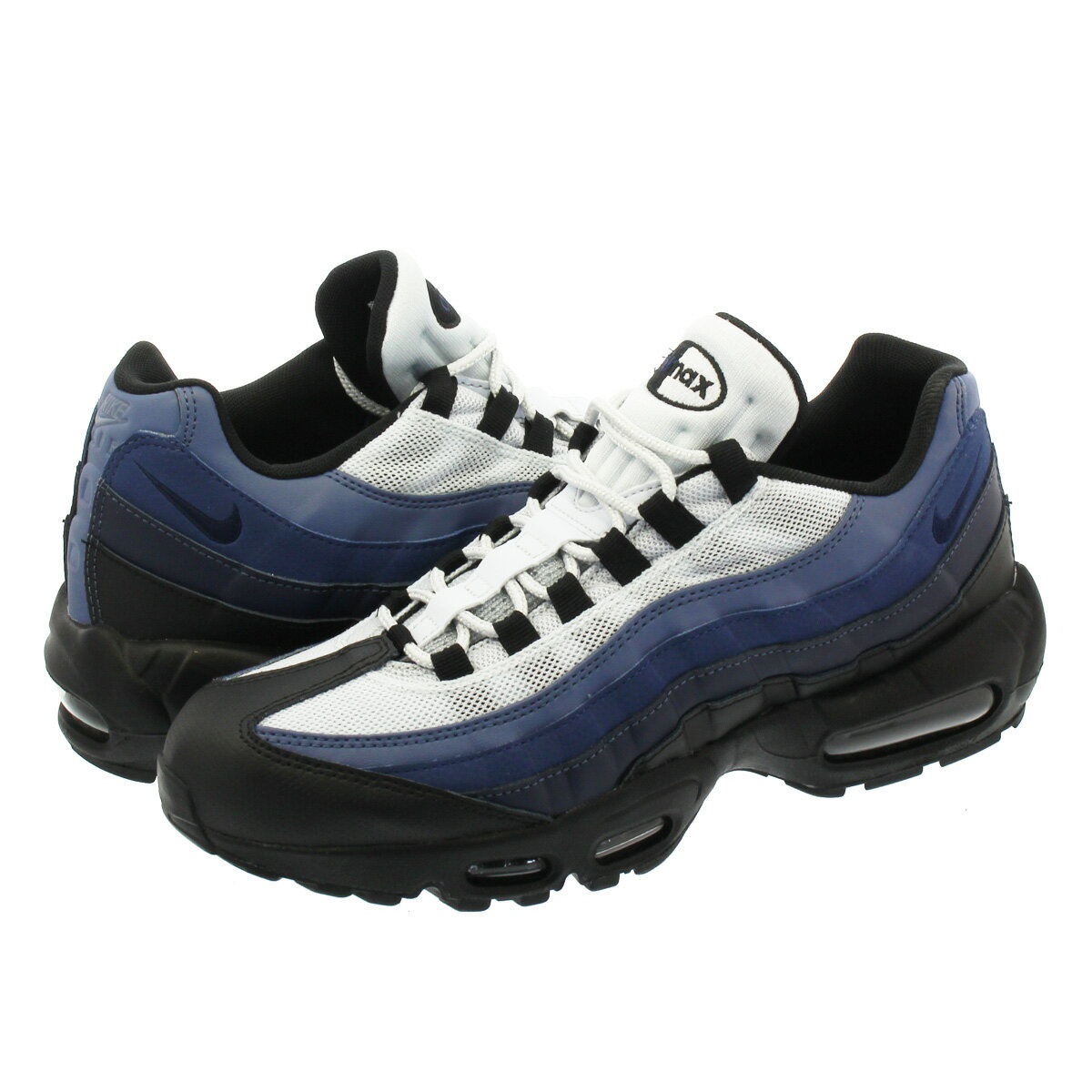 NIKE AIR MAX 95 ESSENTIAL ナイキ エア マックス 95 エッセンシャル BLACK/OBSIDIAN/NAVY BLUE/PURE PLATINUM 749766-028