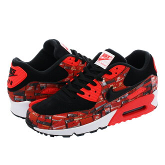 NIKE AIR MAX 90 PRINT Kie Ney AMAX 90 print BLACK/BRIGHT CRIMSON/WHITE