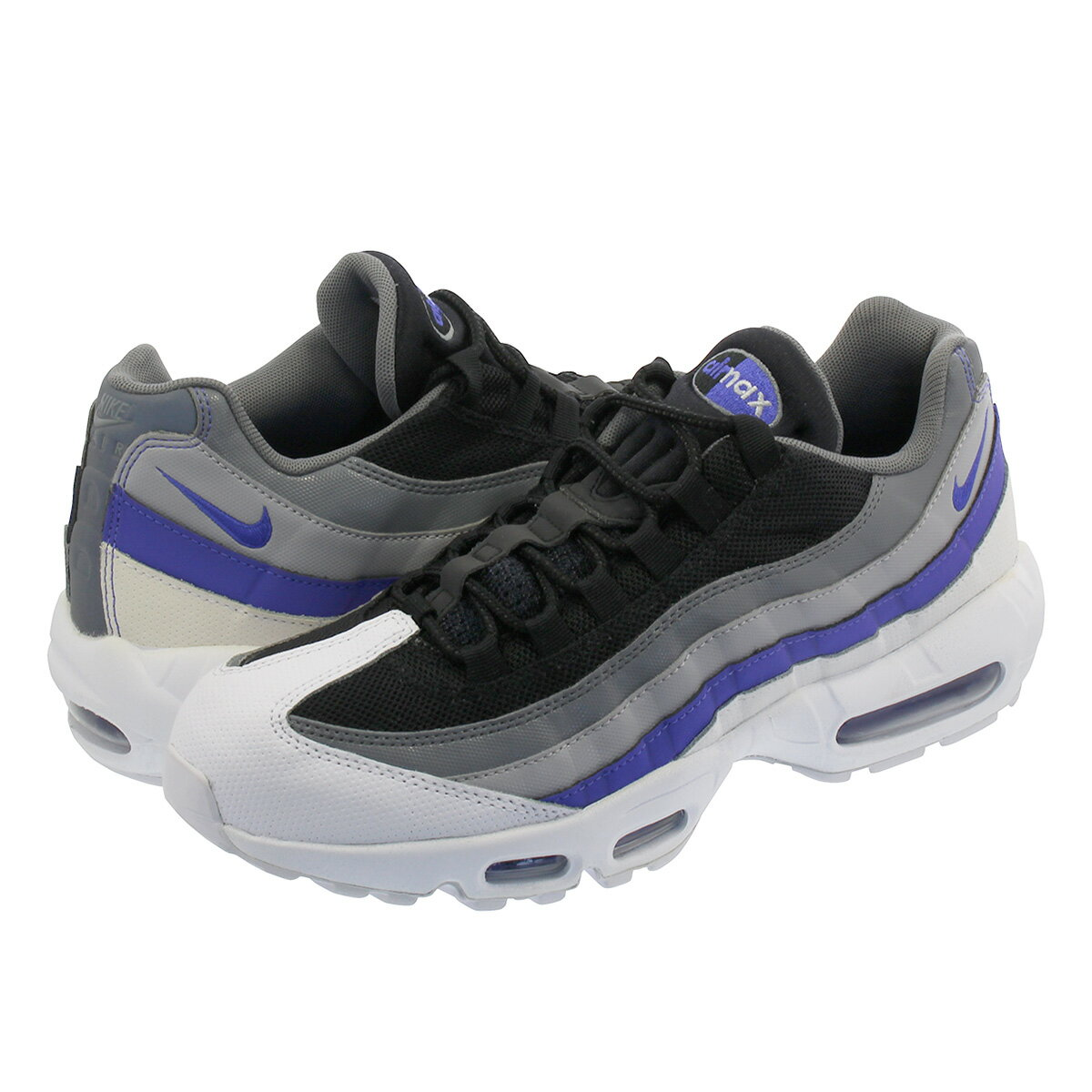 NIKE AIR MAX 95 ESSENTIAL ナイキ エア マックス 95 エッセンシャル WHITE/PERSIAN VIOLET/COOL GREY 749766-110