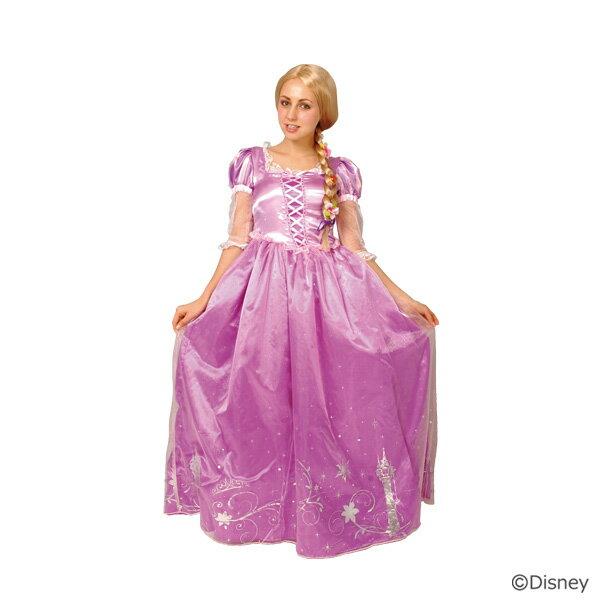 【ディズニー公式ライセンス】<大人用ドレスアップラプンツェル>【衣装 コスプレ パーティ 大人 ドレス ワンピース キャラクターなりきり ステージドレス  お遊戯会