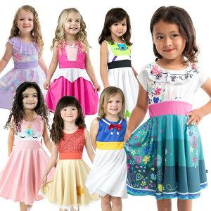 <なりきりワンピース キャラクター>【HLS_DU】【コスチューム プリンセス 子供 ドレス キッズ 子ども お姫様 フリル ワンピース 女の子 仮装 2歳 4歳 6歳 8歳 女の子 誕生日 プレゼント ハロ