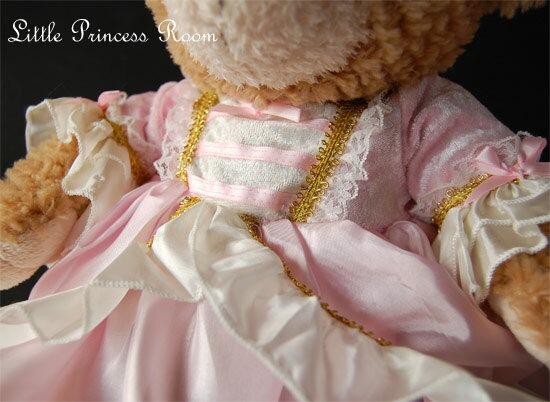<プリンセス・ドールドレス ピンク・フレンチマリー>【HLS_DU】【人形 服 衣装 お姫様 ドレス 結婚式 ピアノ発表会 ドール ぬいぐるみ 着せ替え プリンセスドレス お遊戯会 子供ドレス】【3歳 4歳 5歳 女の子 誕生日 プレゼント】