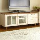 テレビ台 可愛い おしゃれ テレビボード フレンチ カントリー 無垢 120 センチ cm 幅 完成品 ローボード 北欧 南欧 …