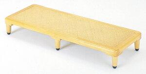 ≪高低差を減らして、危険防止≫綱代編み脚付き玄関踏み台
