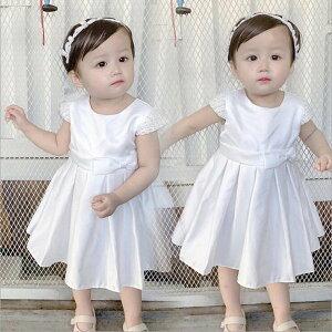 ベビー服 子供服 白 ベビードレス new 退院お祝 女の子 子供ドレス かわいい 結婚式 写真撮り 新生児 ドレス お宮参り 赤ちゃん 出産祝い スカート