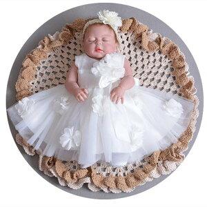 スカート ピンク 2色入 赤ちゃん ベビードレス new 新生児 ベビー服 子供ドレス 送料無料 結婚式 かわいい 女の子 お宮参り 子供服 出産祝い ドレス 白