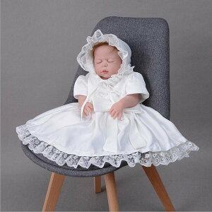 女の子 退院お祝 白 ベビー服 new 出産祝い ベビードレス 赤ちゃん 結婚式 子供服 お宮参り 半袖 送料無料 スカート ドレス かわいい 帽子付き 子供ドレス