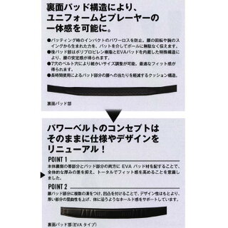 【あす楽対応】ミズノ野球パワーベルトスタンダード(スムース)12JY5V02