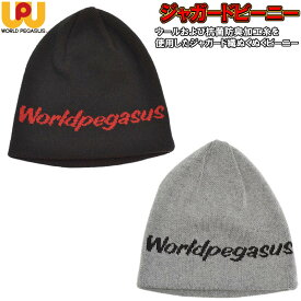 【即発送】 ワールドペガサス 野球 ニットキャップ ニット帽 ジャガードビーニー 防寒小物 WAAKC8F