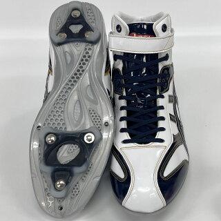 【あす楽対応】アシックス野球ハイカットスパイク樹脂クリーツゴールドステージスタッドポイントワイド幅B1A283