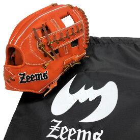 【あす楽対応】ジームス 野球 硬式グラブ グローブ 内野手用 右投げ用 高校野球ルール対応 セカンド ショート サード Zeems 三方親αバックスタイル SV517CBX-SOR