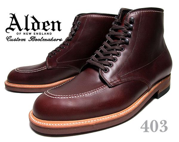 最大3,000円OFFクーポン発行中!!【送料無料 オールデン インディーブーツ 403】ALDEN Indy Boots DARK BROWN CHRMXL Leather