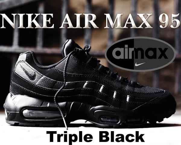 """お得な割引クーポン発行中!!【あす楽 対応!!】【送料無料 ナイキ スニーカー エアマックス】NIKE AIR MAX 95 """"Triple Black"""" blk/blk-anthracite"""