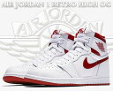 "【送料無料 ナイキ スニーカー エアジョーダン 1】NIKE AIR JORDAN 1 RETRO HIGH OG ""METALLIC RED"" white/varsity …"