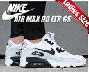 【送料無料 ナイキ エアマックス 90 GS】NIKE AIR MAX 90 LTR GS white/black-pr platinum-white