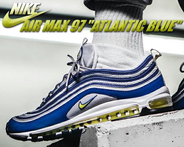 """【送料無料 ナイキ エアマックス 97】NIKE AIR MAX 97 """"ATLANTIC BLUE"""" atlanticblue/voltage yellow【エア マックス 97 アトランティック ブルー】"""