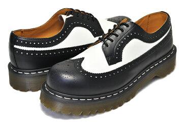 【送料無料ドクターマーチンBex3989ブローグ】Dr.Martens3989BROGUESHOEBEX34Fblack&white【ブラックホワイトツートンカラーウィングチップブローキング厚底ホワイトウェルトステッチカジュアルシューズ5Eye靴レザー】