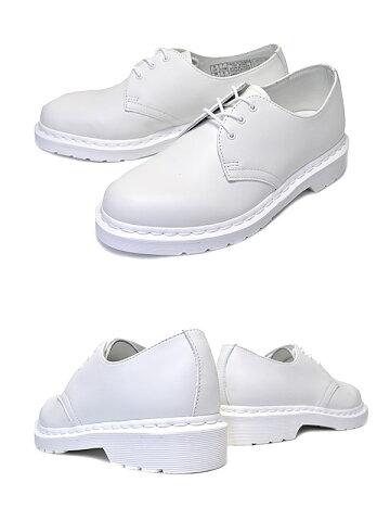 【送料無料ドクターマーチンギブソン3ホールシューズ】Dr.Martens14613EYEGIBSONMONOWHITE【モノホワイトカジュアルシューズ靴白レザー】