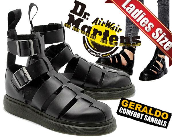 【送料無料 ドクターマーチン ジェラルド】Dr.Martens GERALDO GLADIATOR SANDAL BLACK【グラディエーター サンダル ストラップサンダル レディース ブラック】