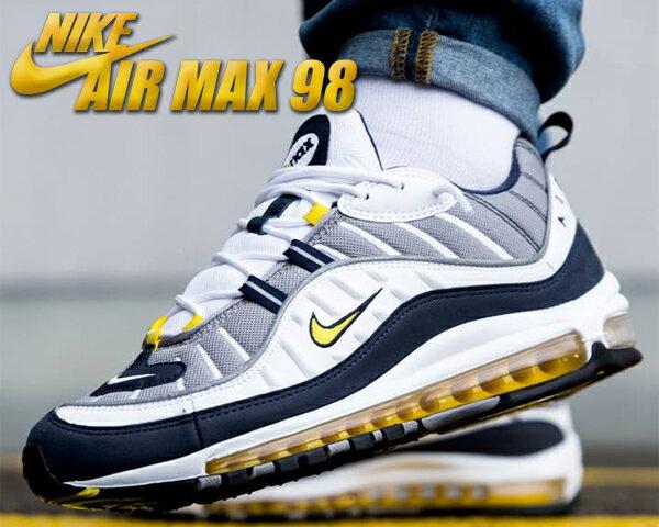 【送料無料 ナイキ エアマックス 98】NIKE AIR MAX 98 white/tour yellow【メンズ スニーカー エア マックス 98】