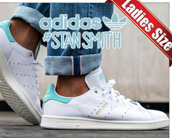 【アディダス スタンスミス】adidas STAN SMITH ftwht/ftwht-eneaqu【レディース スニーカー ウィメンズ レザー アクア】STAN SMITH