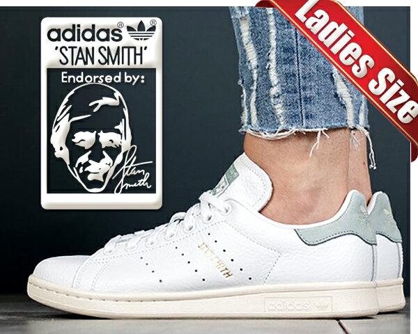 【アディダス スタンスミス レディース】adidas STAN SMITH ftwht/ftwht-tacgrn【スニーカー ホワイト グリーン レザー シューズ レディース】STAN SMITH