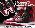 "【送料無料ナイキエアジョーダン1OGNRG】NIKEAIRJORDAN1RETROHIGHOGNRG""HOMAGETOHOME""black/universityred-white【スニーカーAJBREDCHICAGOBULSSRED】"