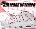【送料無料 ナイキ エアモアアップテンポ 96】NIKE AIR MORE UPTEMPO '96 white/varsity red-white【スニーカー メンズ モアテン ホワ…