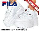 お得な割引クーポン発行中!!【あす楽 対応!!】【送料無料 フィラ ディスラプター 2 ウェッジ】FILA DISRUPTOR II WEDGE white/blue/red…
