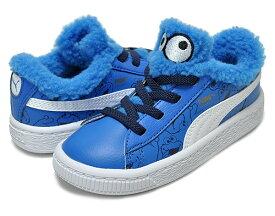 お得な割引クーポン発行中!!【あす楽 対応!!】【プーマ スニーカー バスケット セサミ・ストリート ベビーシューズ】PUMA BASKET SESAME Cookie Monster AC INFANT electric blue lemonade/black