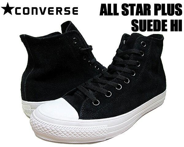 最大3,000円OFFクーポン発行中!!CONVERSE ALL STAR PLUS SUEDE HI 【32059481】 BLACK/WHITE【コンバース オールスター スウェード】