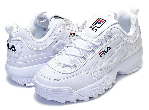 【送料無料 フィラ ディスラプター 2】FILA DISRUPTOR 2 white 【DAD SHOE ダッド シューズ 厚底 スニーカー メンズ  レディース ウィメンズ ホワイト 白 FS1HTA1071X